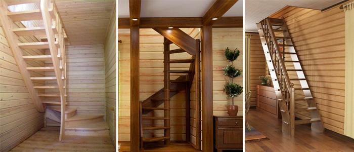 Как сделать лестницу в маленький проем на второй этаж своими руками